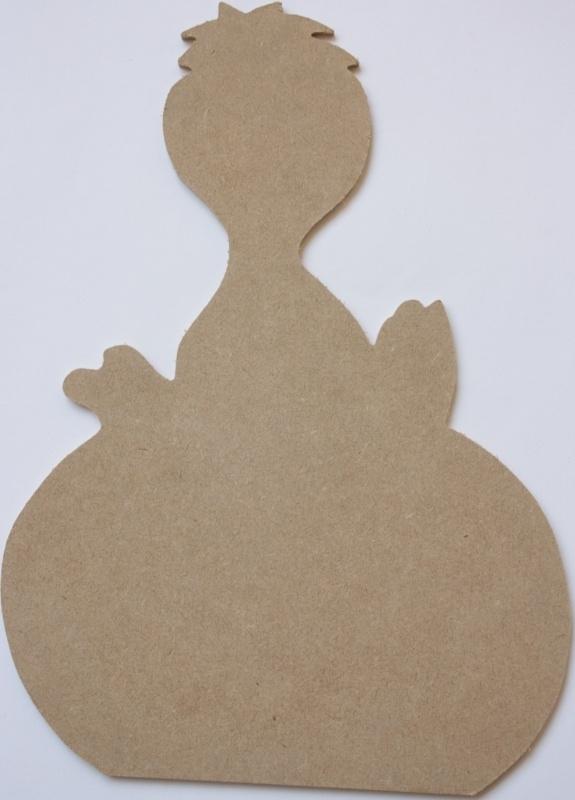 MDF Paasfiguur kuiken 24,5 x 34 x 0,4 cm