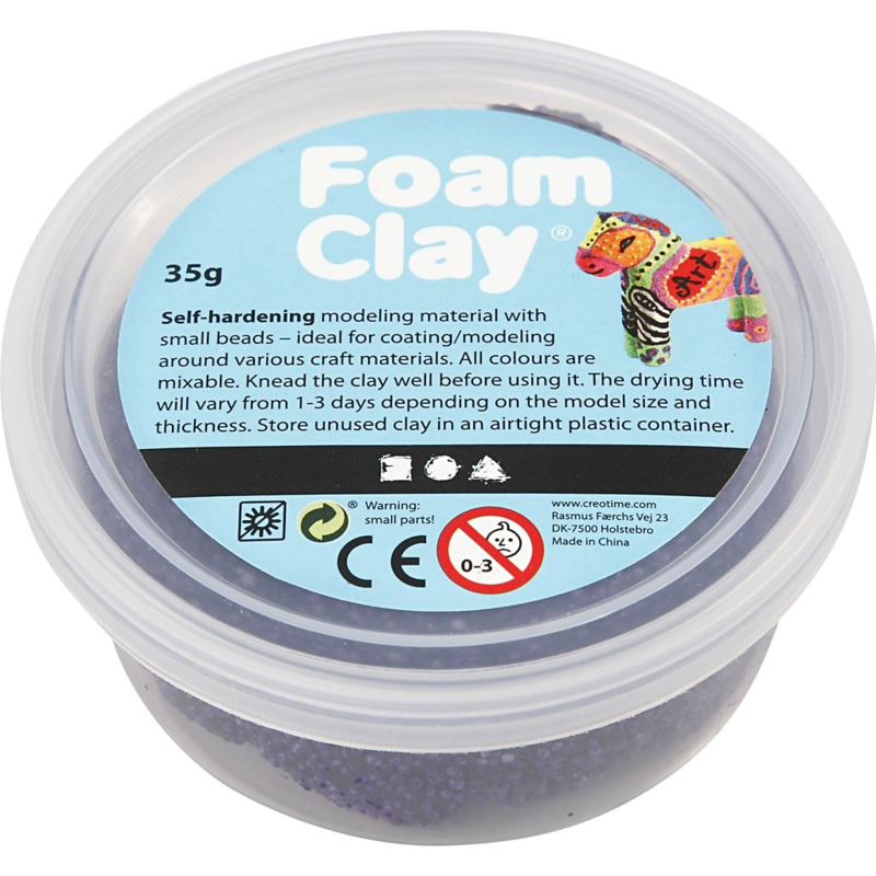 Foam Clay (klei) donkerpaars bakje à 35 gram
