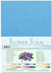 Leane Creatief Flower Foam vel A4 summer blue (zomer blauw) 25.4285 dikte 0,8 mm
