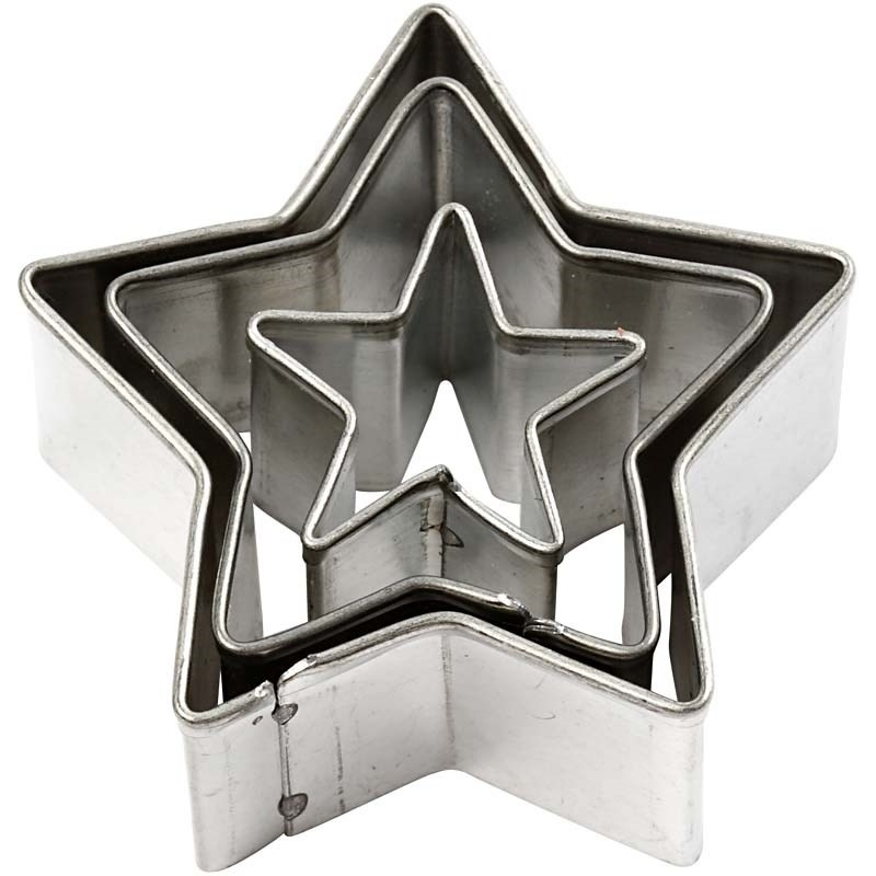 Makin's uitstekers sterren 3 stuks, grootste Ø 4 cm