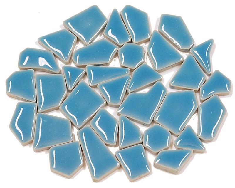 Flip keramische mini mozaïek caraïbisch blauw bakje à 65 gram