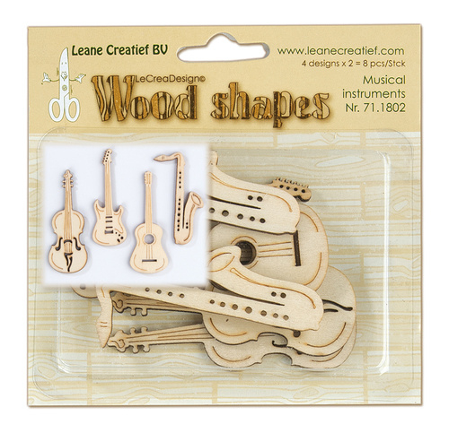 Leane Creatief Wood shapes Musical instruments (muziekinstrumenten)  LCR71.1802