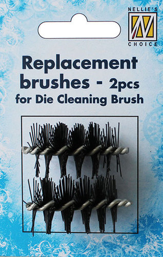 Nellie's Choice 2 Spare brushes RDCB001 for Die Cleaning Brush DCB001