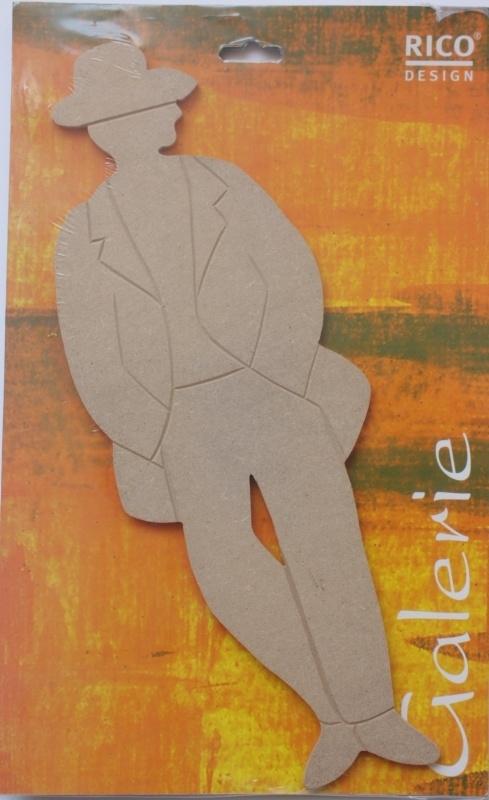 MDF Rico Design Galerie Man met hoed 38 cm, 5 mm dik