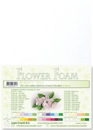 Leane Creatief Flower Foam vel A4 white (wit) 25.4117 dikte 0,8 mm