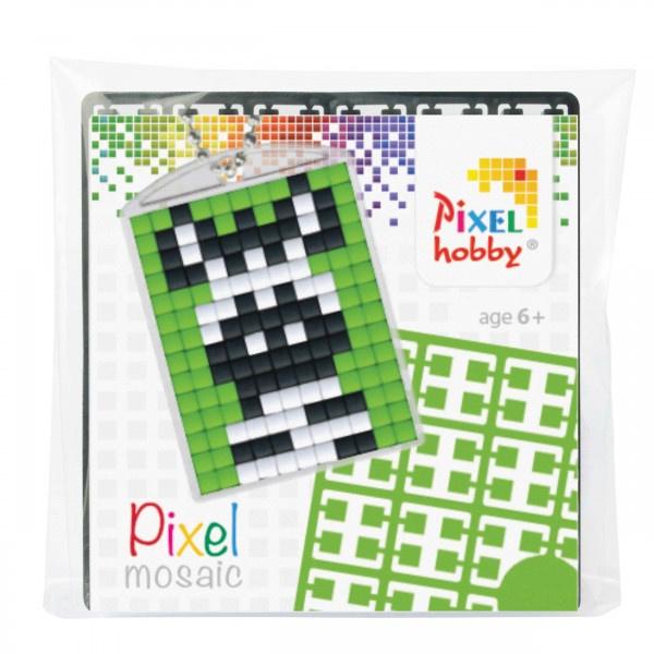 Pixelhobby Pixel mosaic medaillon startset zebra sleutelhanger