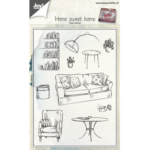 Joy! Crafts Home sweet home clear stempel 6410/0423