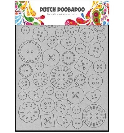 Dutch Doobadoo Greyboard Art A6 Buttons (knopen) 492.002.003