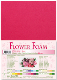 Leane Creatief Flower Foam vel A4 red (rood) 25.4230 dikte 0,8 mm