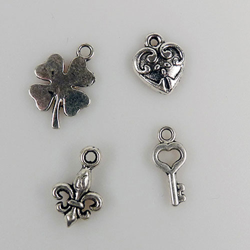 Nellie's Choice metal charms (bedeltjes) Good Luck 8 stuks CHARM003