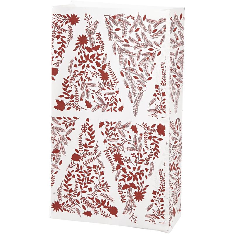Vivi Gade Design papieren zakken Kerstbomen 10 stuks 80 grams 21 x 6  x 12 cm