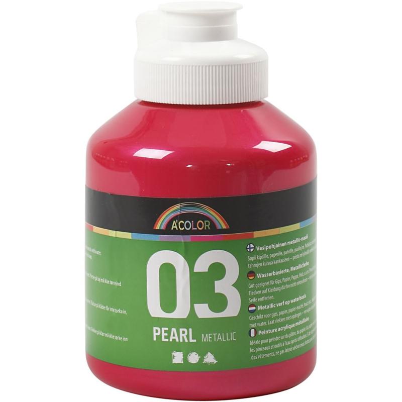 A' Color 03 Pearl metallic verf op waterbasis roze fles 500 ml