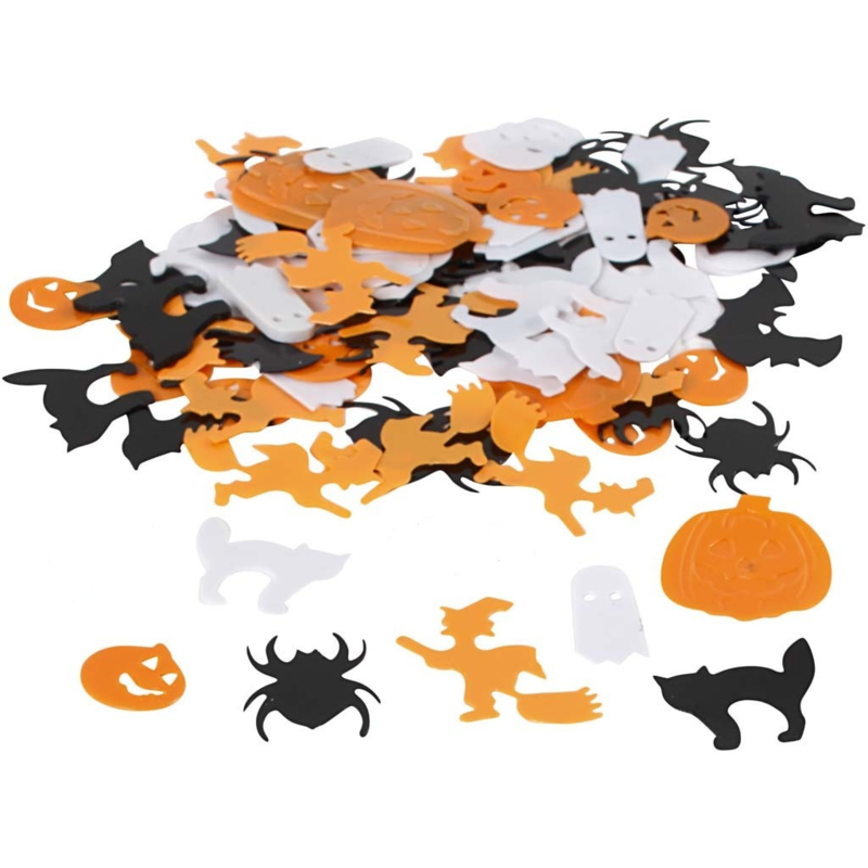 Zakje pailletten Halloween assorti 10 tot 20 mm 10 gram