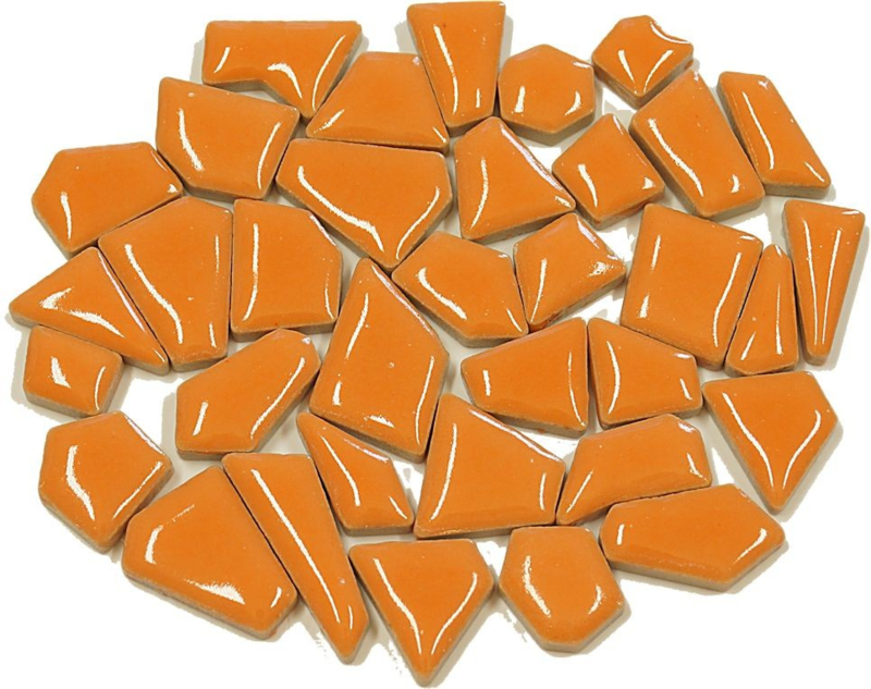 Flip keramische mini mozaïek oranje bakje à 65 gram