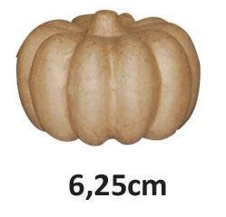 Pompoen van papier-mâché 6,25 cm hoog, Ø 8,5 cm