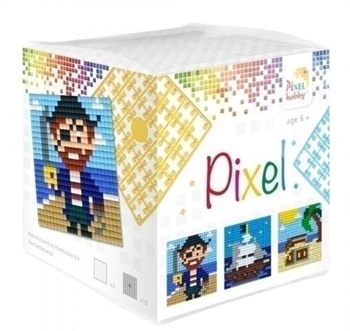 Pixelhobby Pixel mosaic kubussetje piraat 6,2 x 6,2 cm