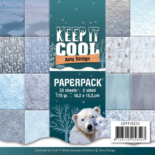 Amy Design Keep it Cool paperpack ADPP10024 15,2 x 15,2 cm