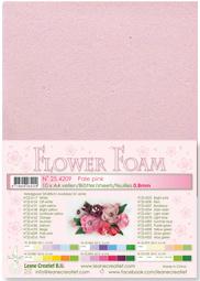 Leane Creatief Flower Foam vel A4 pale pink (bleekroze) 25.4209 dikte 0,8 mm