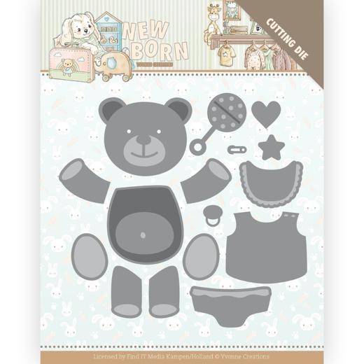 Yvonne Creations Newborn Build Up Bear cutting die YCD10232