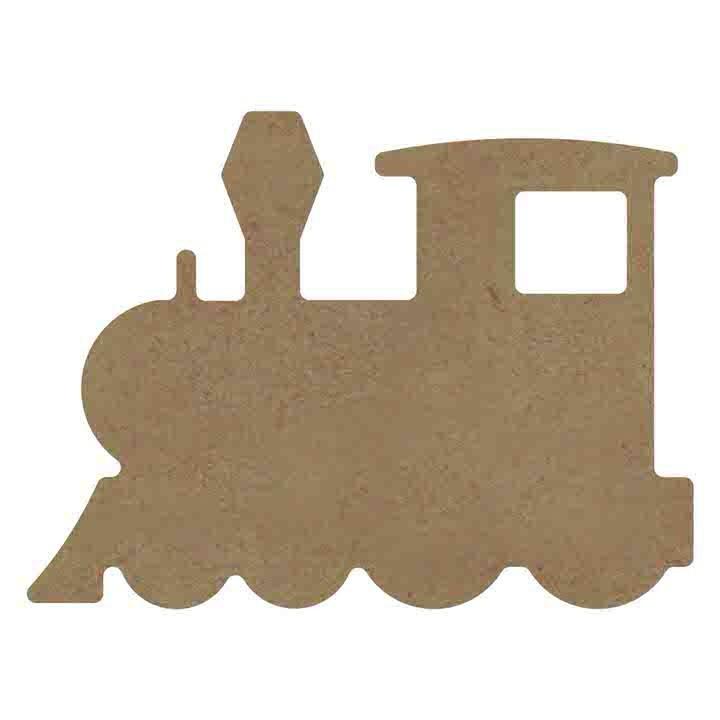 Gomille MDF locomotief (trein) 15 x 11 cm dikte 5 mm