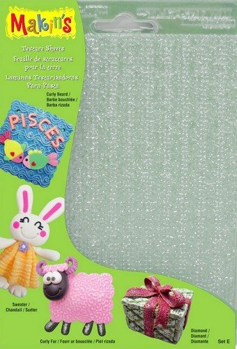 Makin's Clay klei structuur sheets set E 4 sheets assorted