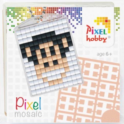 Pixelhobby Pixel mosaic medaillon startset aap sleutelhanger