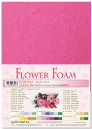 Leane Creatief Flower Foam vel A4 bright pink (fel roze) 25.4223 dikte 0,8 mm
