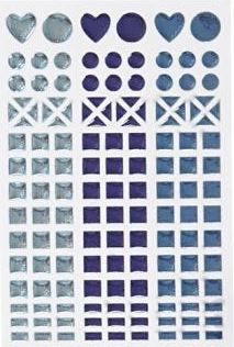 Mosaic (mozaïek) stickervel blauw 11 x 16,5 cm