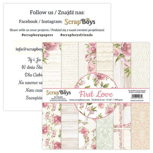 Art Studio ScrapBoys First Love paperpad 15,2 x 15,2 cm FILO-09