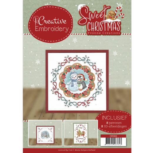 Yvonne Creations Sweet Christmas creative embroidery nummer 6