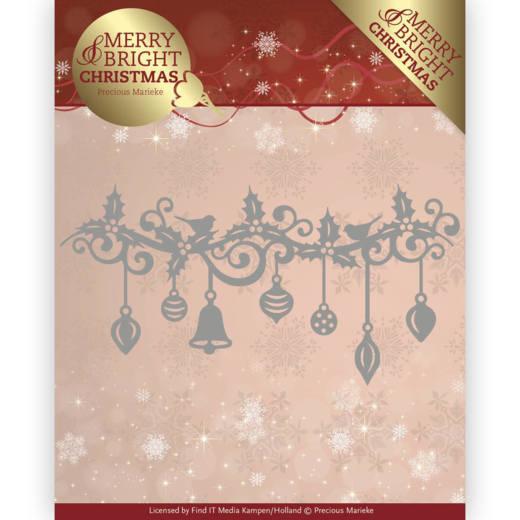 Precious Marieke Merry and Bright Christmas die Christmas garland PM10128