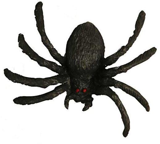 Spinnen plastic zwart 4 cm 4 stuks