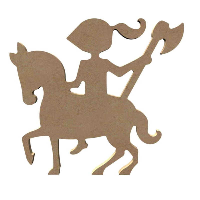 Gomille MDF ridder te paard 17 x 15,6 cm dikte 5 mm