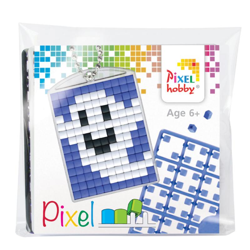 Pixelhobby mosaic medaillon startset smiling ghost sleutelhanger