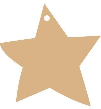 MDF Pronty ster met ophangoog Ø 10,5 cm dikte 9 mm