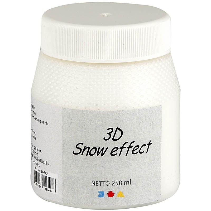 3D Snow (Sneeuw) effect pasta pot 250 ml