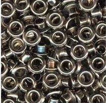 Eyelets metallic zilverkleurig 25 stuks buitenmaat 4 mm binnenmaat 3 mm
