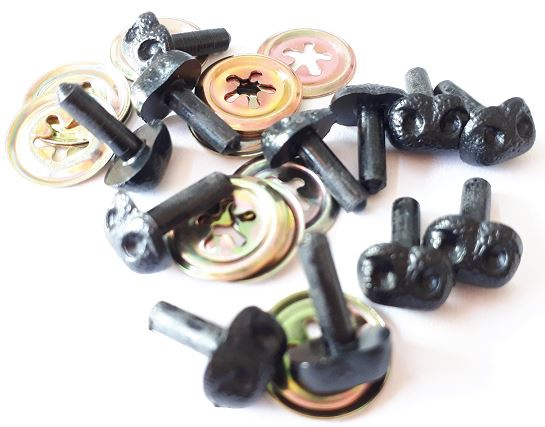 Vaessen Creative neuzen hond/beer zwart 8 mm 12 stuks