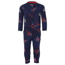 QUAPI jumpsuit Emi dark blue flower maat 80 (herfst/winter 2020-2021