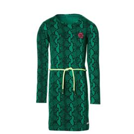 QUAPI Daantje dress green snake maat 110/116 ( herfst/winter 2020/2021
