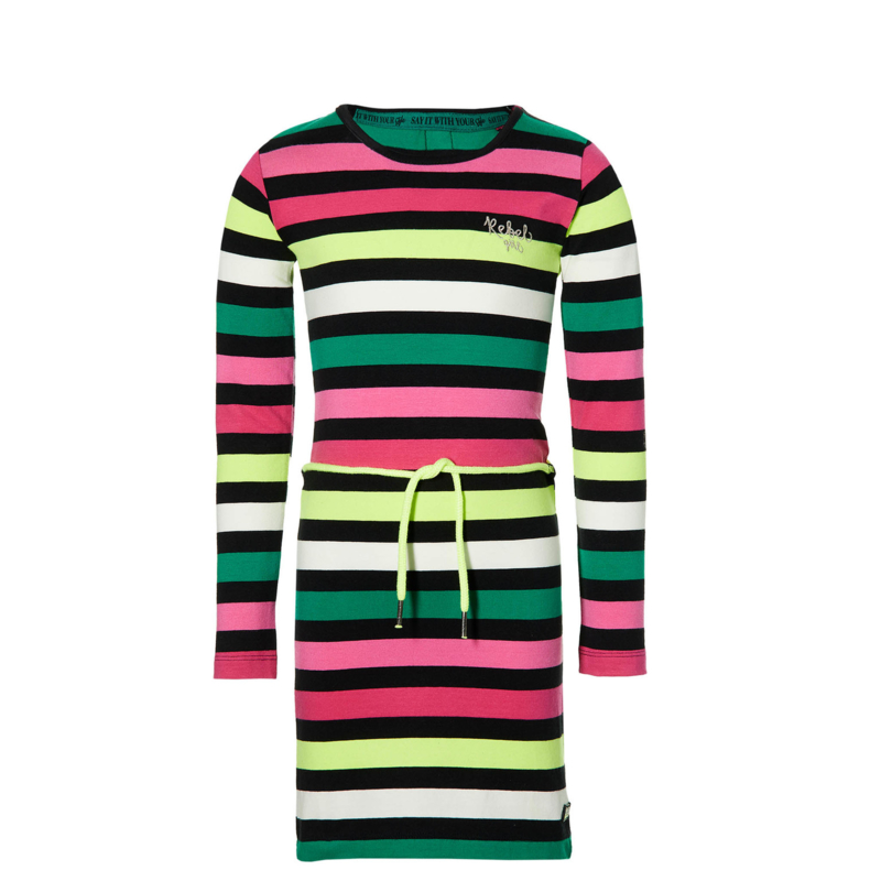 QUAPI Daantje dress multi Colour stripe maat 92 ( herfst/winter 2020-2021)
