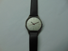 V & D chroom heren horloge