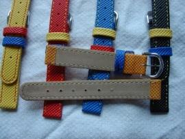 Leren kinderhorlogeband 14 mm.