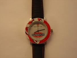 ReWATCH horloge met zwarte band.