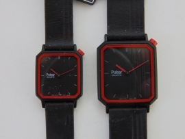 Pulsar zwart herenhorloge