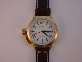 XXL horloges met bruine band