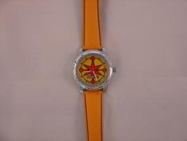 ReWATCH horloge met oranje band.