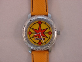 ReWATCH horloge met oranje band.