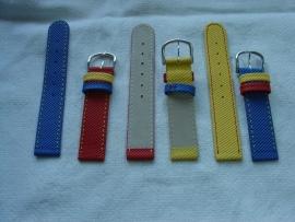 Leren horlogeband voor kinderen 16 mm.