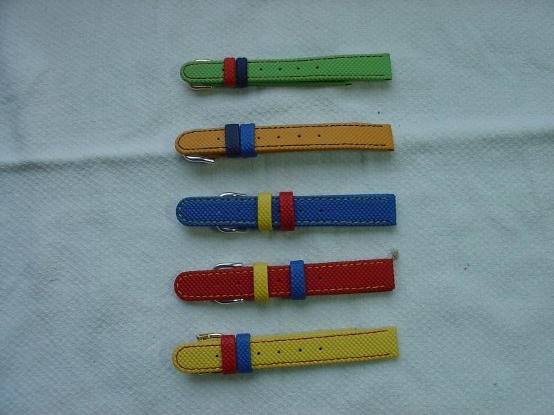 Leren horlogeband voor kinderen 12 mm.